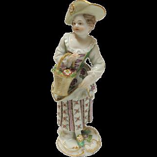Meissen Peasant Girl Figurine