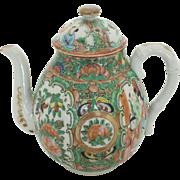 Qing Dynasty Rose Medallion Tea Pot
