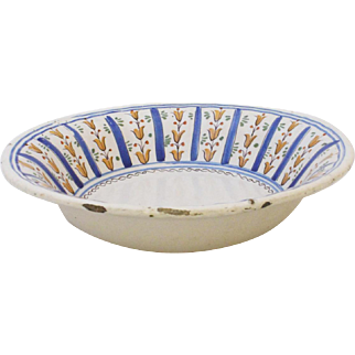 Early 19th Century Spanish Faience Bowl