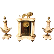 Vincenti Mantle Clock and Urns