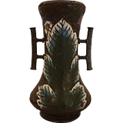 Edo Period Rare Summer/Autumn Champleve Vase