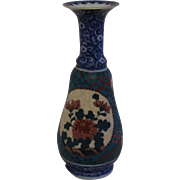 Blue Imari/Arita Body Cloisonne on Porcelain (Totai-Jippo) Vase