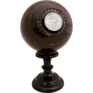 1936 Blowing Ball Trophy with Sterling Insets