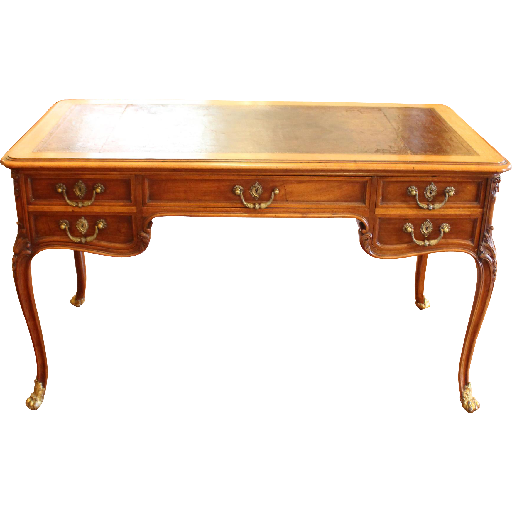 C 1880 french bureau plat from whitehall antiques on ruby for Bureau french