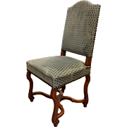 Set of 8 French Louis XIII style Dining Chairs