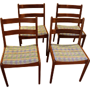 Set of 4 Side Chairs of Danish Construction