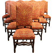 Set of 10 Louis XIII Style Chairs