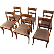 6 English Regency Dining Chairs