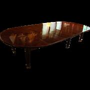 C. 1815-30 Mahogany Chateau Dining Table