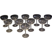 Set of 10 American Champagnes