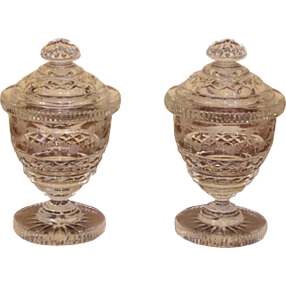 Pair of Covered Sweetmeat Urns