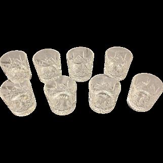 Handcut Crystal Wiskey Tumblers