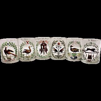 Set of 12 Hunt Motif Tumblers