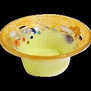 Monart Glass Yellow Bowl