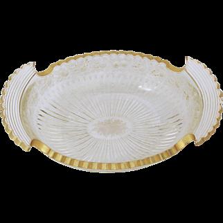 Etched & Gilt Cut Glass Bowl