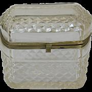 c. 1880 French Cut Glass Jewel Casket