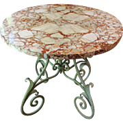 Scagliola Marble Topped Table