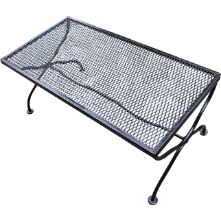 Mid-20th Century Wrought Iron Coffee Table