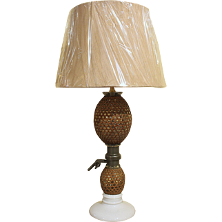 Antique French Seltzer Bottle, Mounted as Lamp