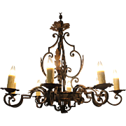 French Iron 8-Light Chandelier