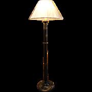 Deep Blue Chinoiserie Laquer Floor Lamp