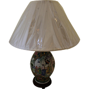 French Famille Rose Style Lamp
