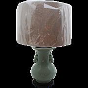 Chinese Celadon Vase/Lamp