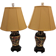 Pair of Guangxu Porcelain Vase Lamps
