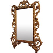 Rococo Transitional Style Carved Gilt Mirror