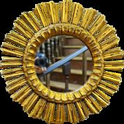 Carved Gilt Sunburst Mirror