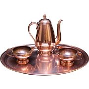 C. 1920 French Copper Tea Set
