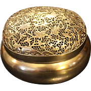 19th Century Chinese Brass Incense Box