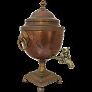 Early 19th Century English Tea Urn, Copper & Brass