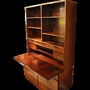 c. 1960 Danish Bookcase Secretaire
