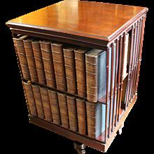 Mahogany Chair-side Revolving Bookcase