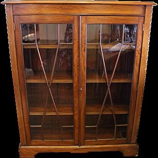 c. 1900 English Glazed Door Bookcase