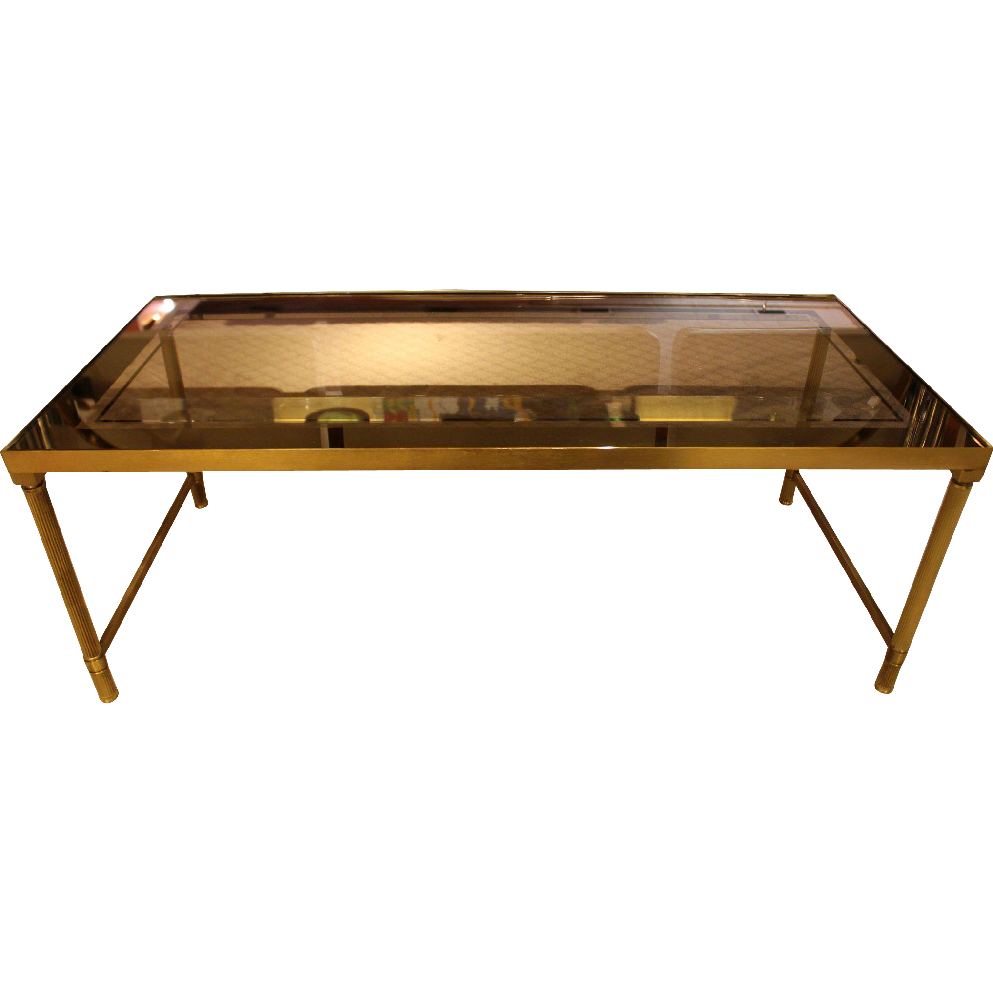 C 1940s 50s french brass and glass top coffee table from 1940s 50s french brass and glass top coffee table geotapseo Image collections