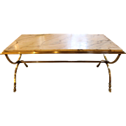Marble Top Bronze Coffee Table