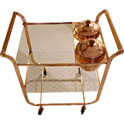 Solid Copper Cocktail Cart