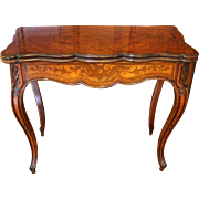 French c. 1860 Games Table