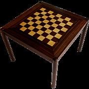 Mid-Century Modern Fliptop Rosewood Games Table