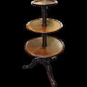 George III Mahogany 3-tier Dumbwaiter
