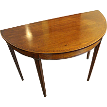 Georgian Demilune Console Table
