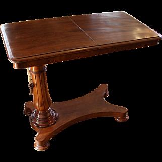 C. 1840 English Mahogany Reading Table