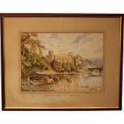 Watercolor of Barnard Castle