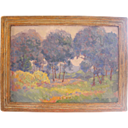 """""""Lavender Spring"""", oil on artist board"""