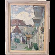 "Harry Lachman ""Village in Normandy"""