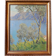 """Lake Scene"" by Charles W. Eaton, oil on canvas"