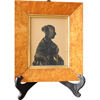 Mid-19th Century Silhouette in Frame