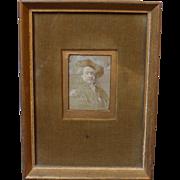 Victorian Stevengraph of Rembrandt van Rijn